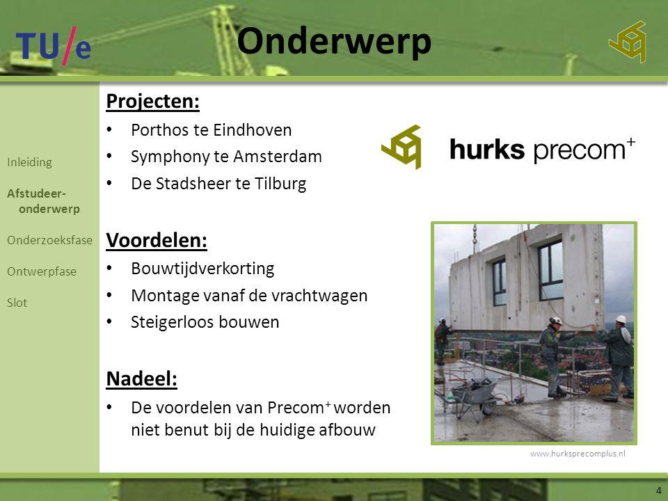 Onderwerp Projecten: Voordelen: Nadeel: Porthos te Eindhoven