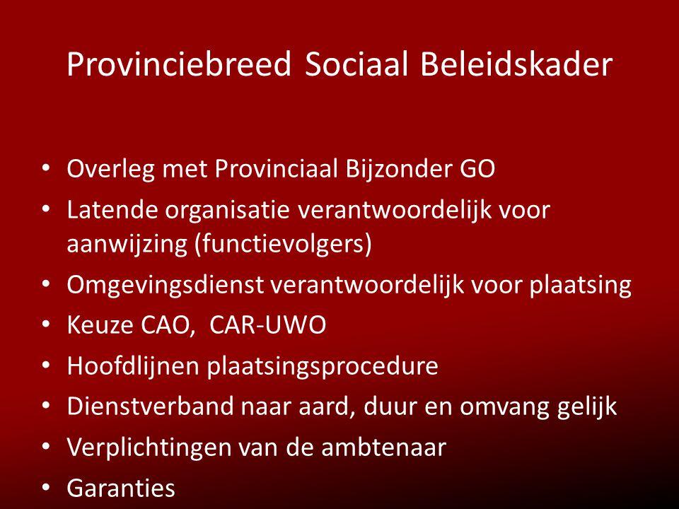 Provinciebreed Sociaal Beleidskader