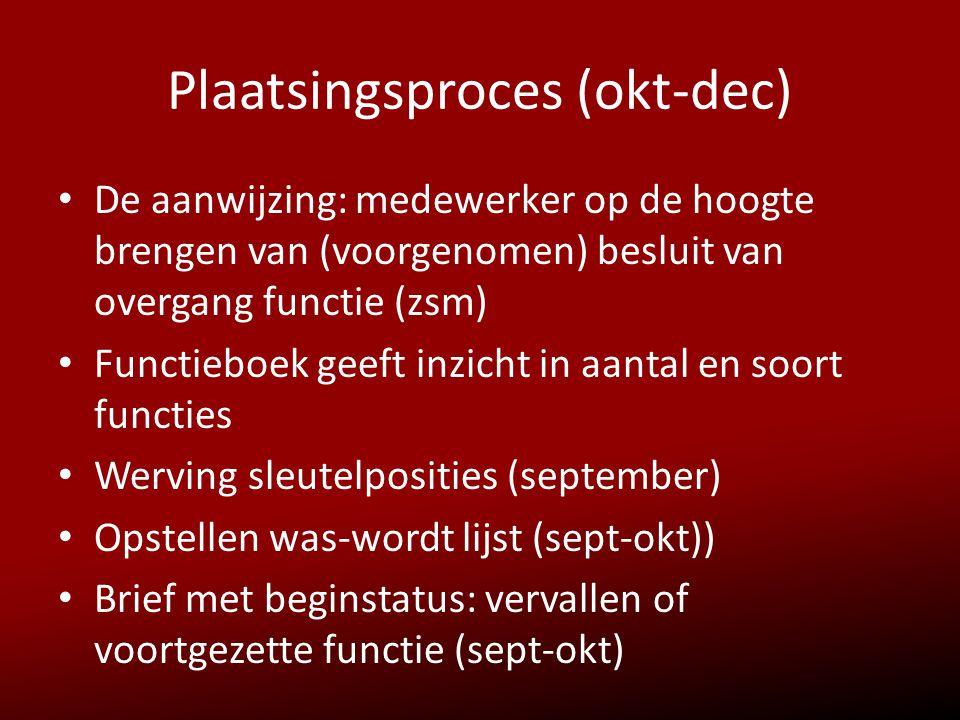 Plaatsingsproces (okt-dec)