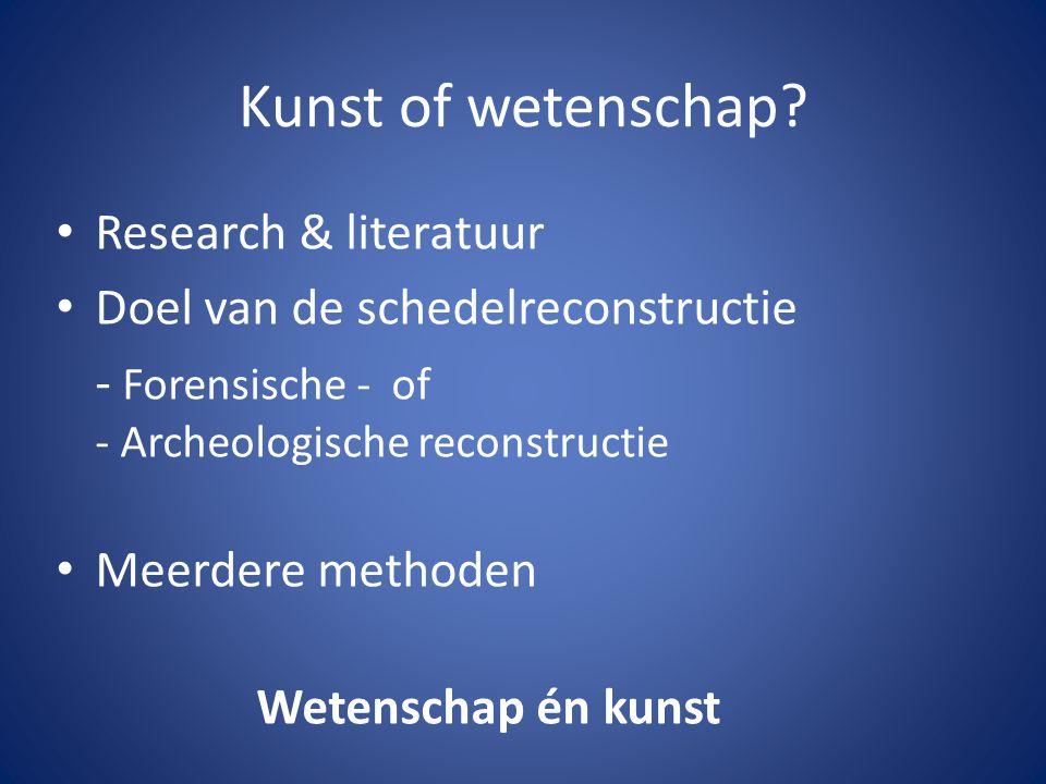 Kunst of wetenschap Research & literatuur