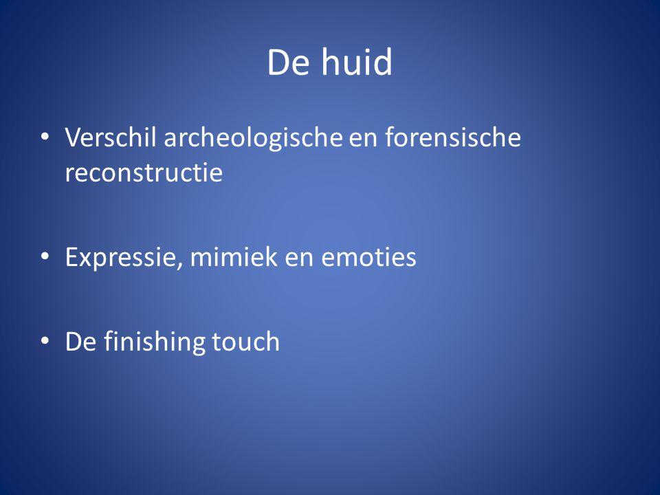 De huid Verschil archeologische en forensische reconstructie
