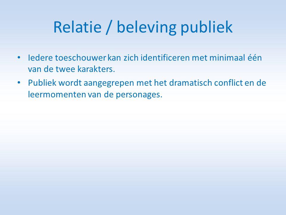 Relatie / beleving publiek