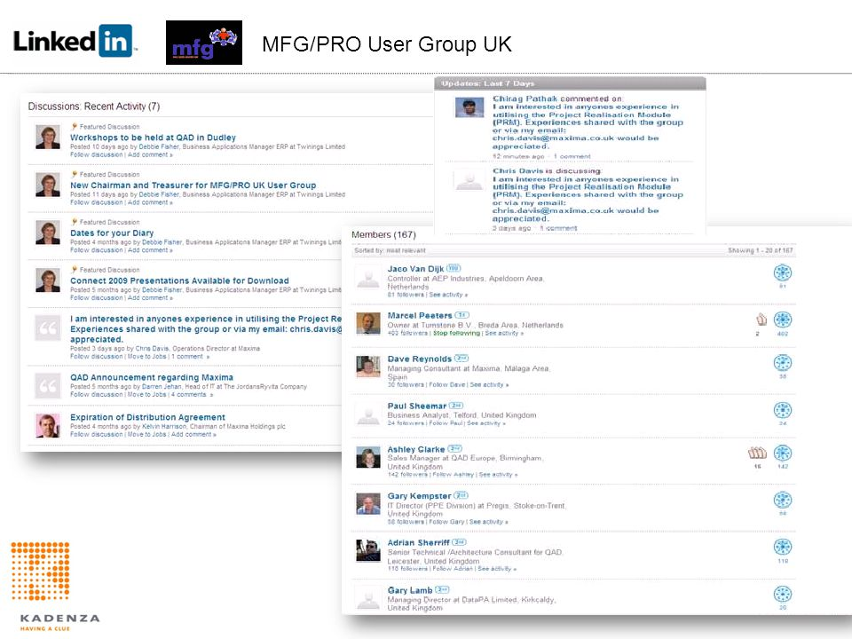 . MFG/PRO User Group UK