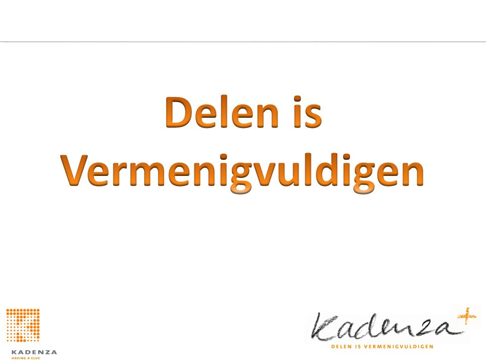 Delen is Vermenigvuldigen