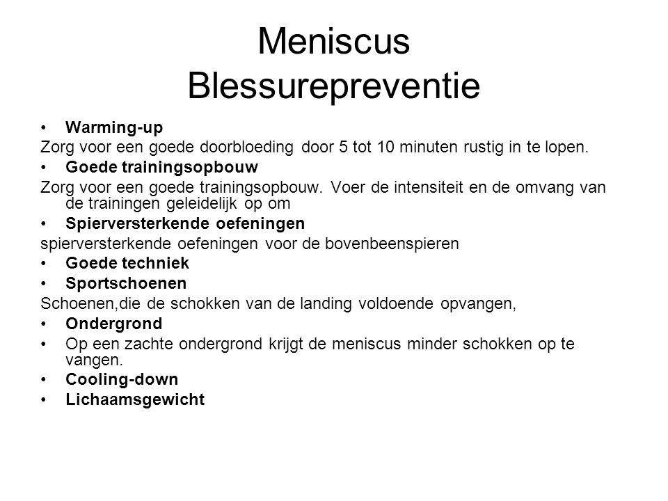 Meniscus Blessurepreventie