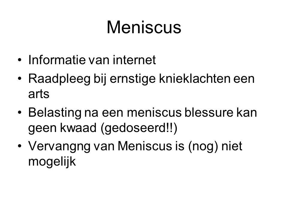 Meniscus Informatie van internet