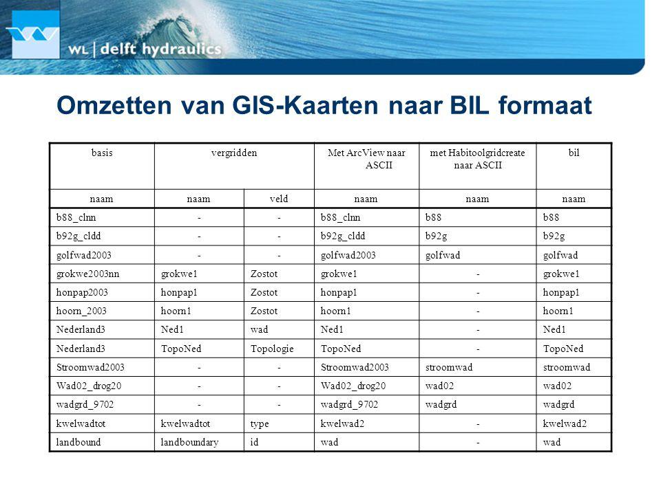 Omzetten van GIS-Kaarten naar BIL formaat
