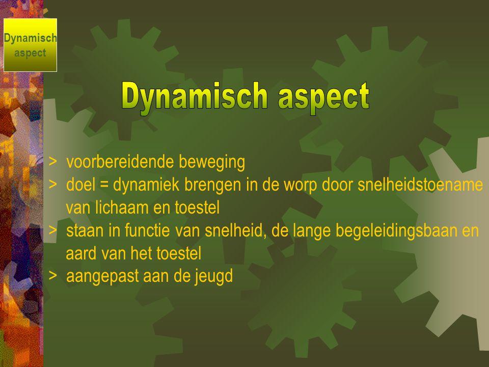 Dynamisch aspect > voorbereidende beweging