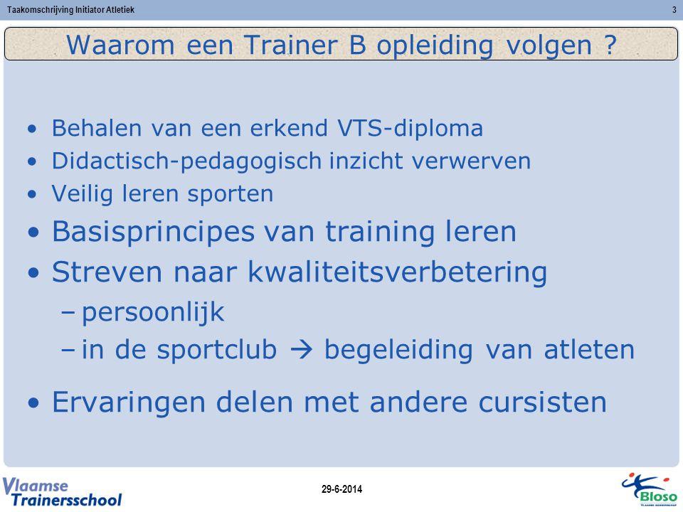 Waarom een Trainer B opleiding volgen