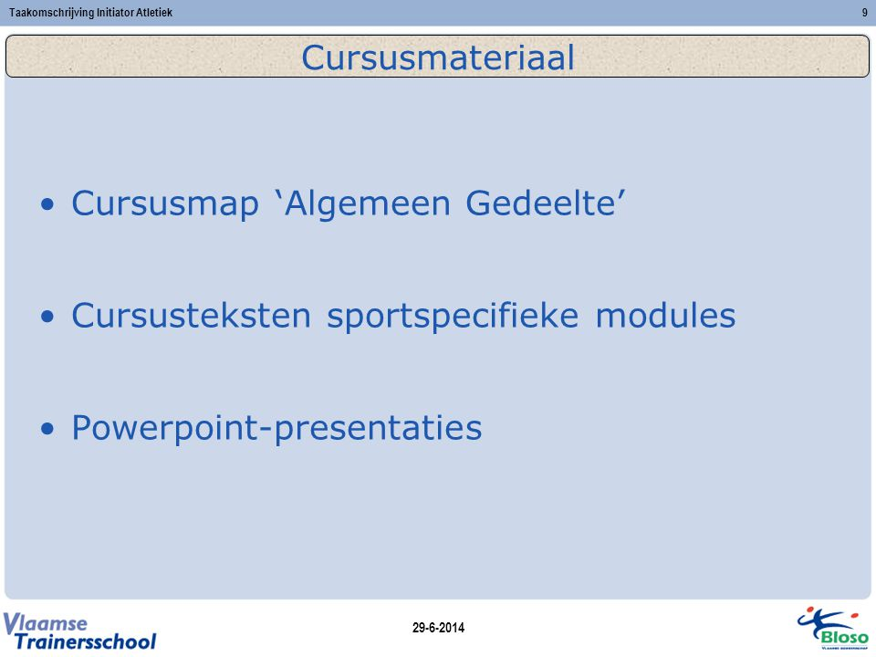 Cursusmap 'Algemeen Gedeelte'