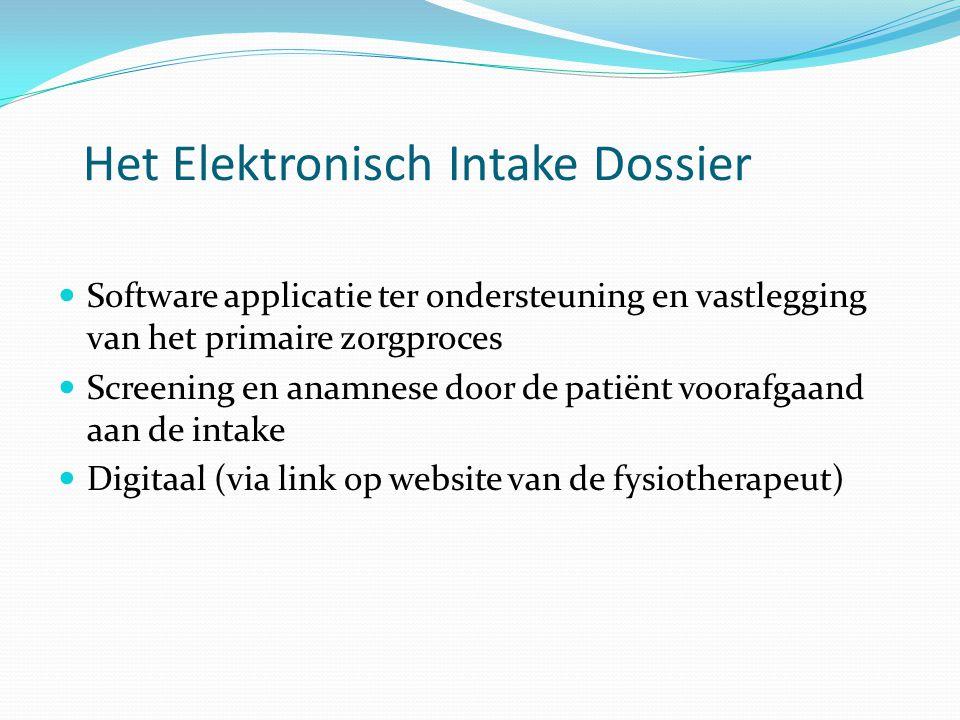 Het Elektronisch Intake Dossier