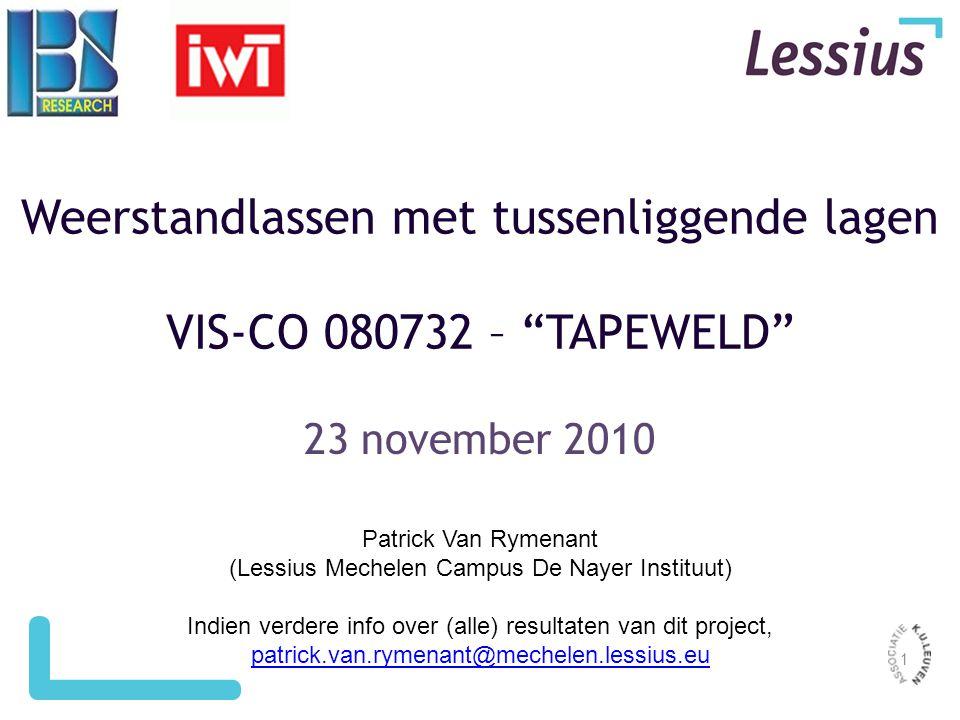 Weerstandlassen met tussenliggende lagen VIS-CO 080732 – TAPEWELD
