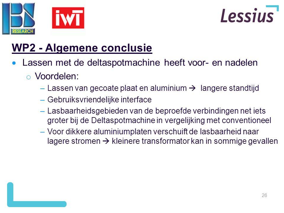 WP2 - Algemene conclusie