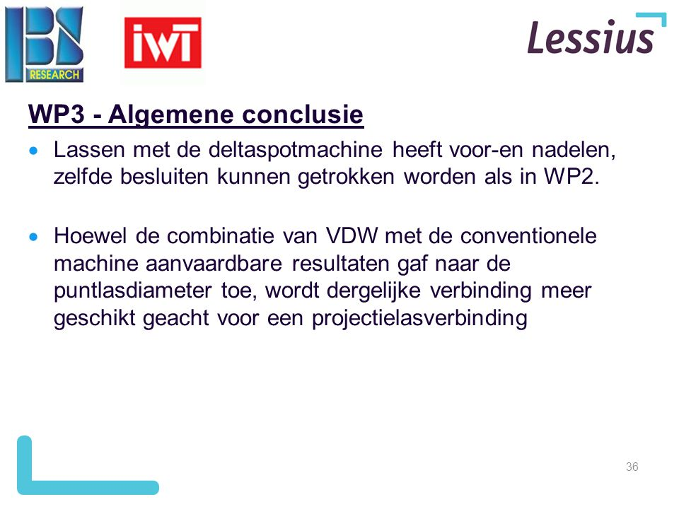WP3 - Algemene conclusie