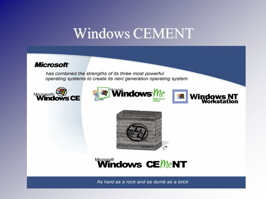 Windows CEMENT