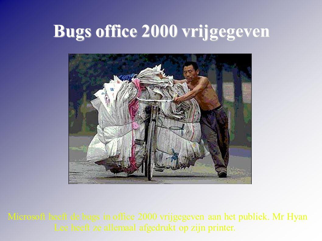 Bugs office 2000 vrijgegeven