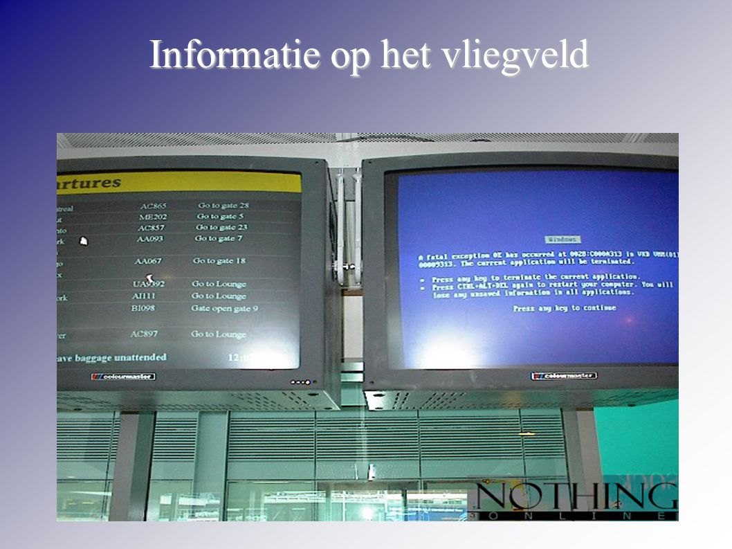 Informatie op het vliegveld