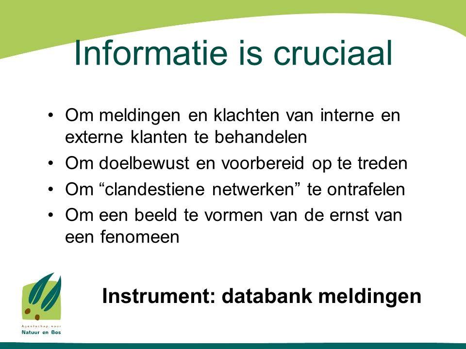 Informatie is cruciaal