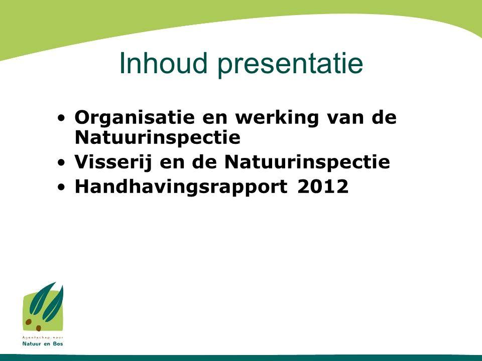 Inhoud presentatie Organisatie en werking van de Natuurinspectie