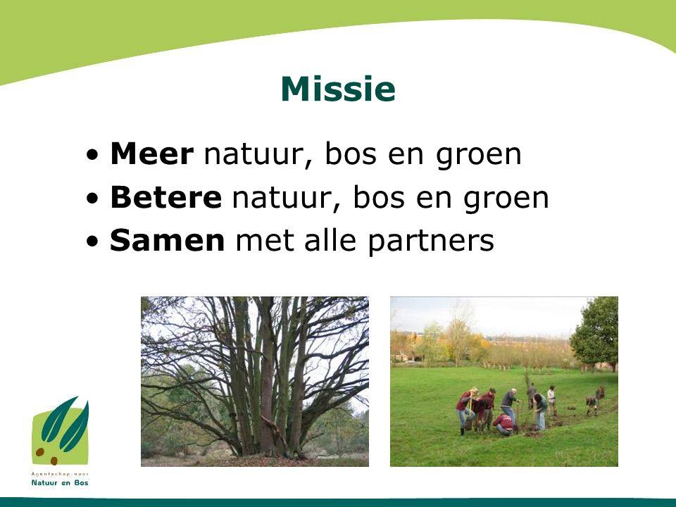 Missie Meer natuur, bos en groen Betere natuur, bos en groen