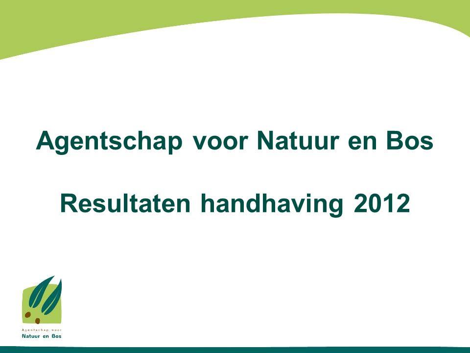 Agentschap voor Natuur en Bos Resultaten handhaving 2012