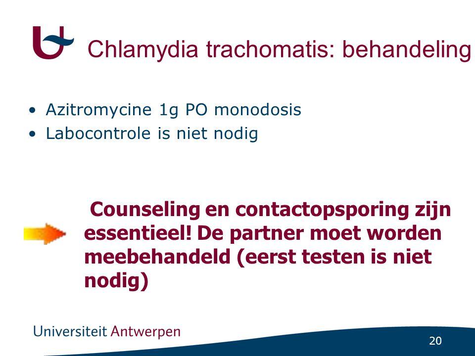 Chlamydia trachomatis: behandeling