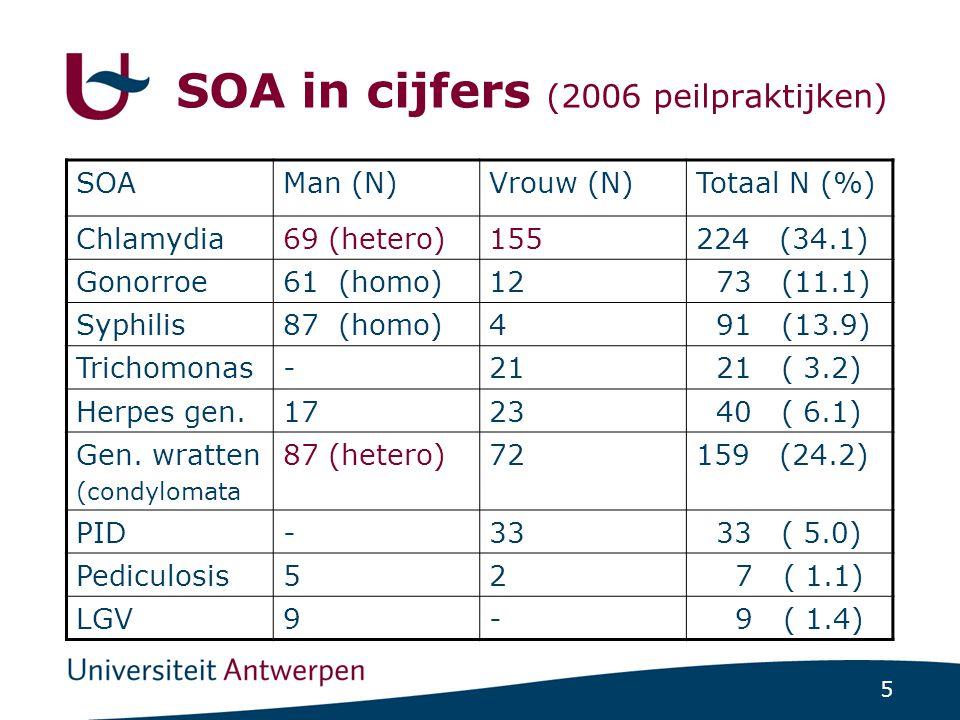 SOA in cijfers (2006 peilpraktijken)