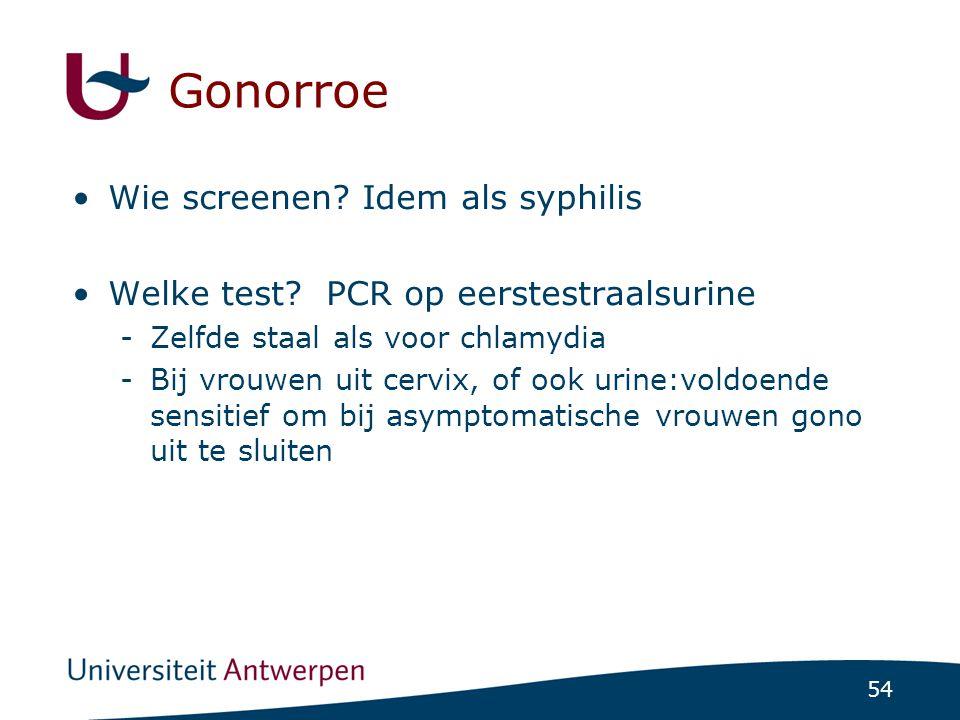 Gonorroe Wie screenen Idem als syphilis
