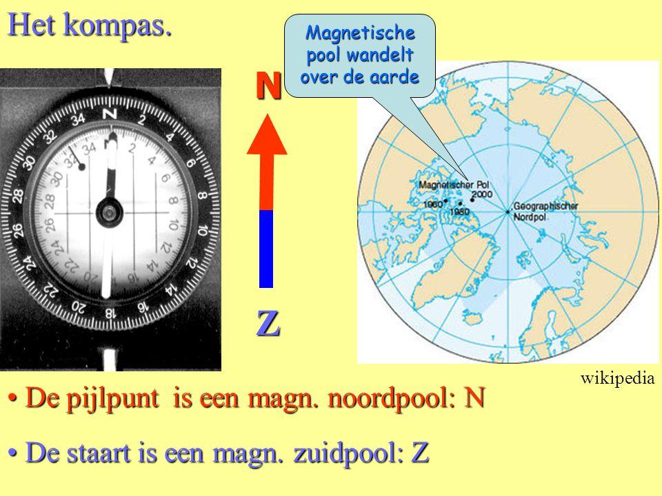 Magnetische pool wandelt over de aarde