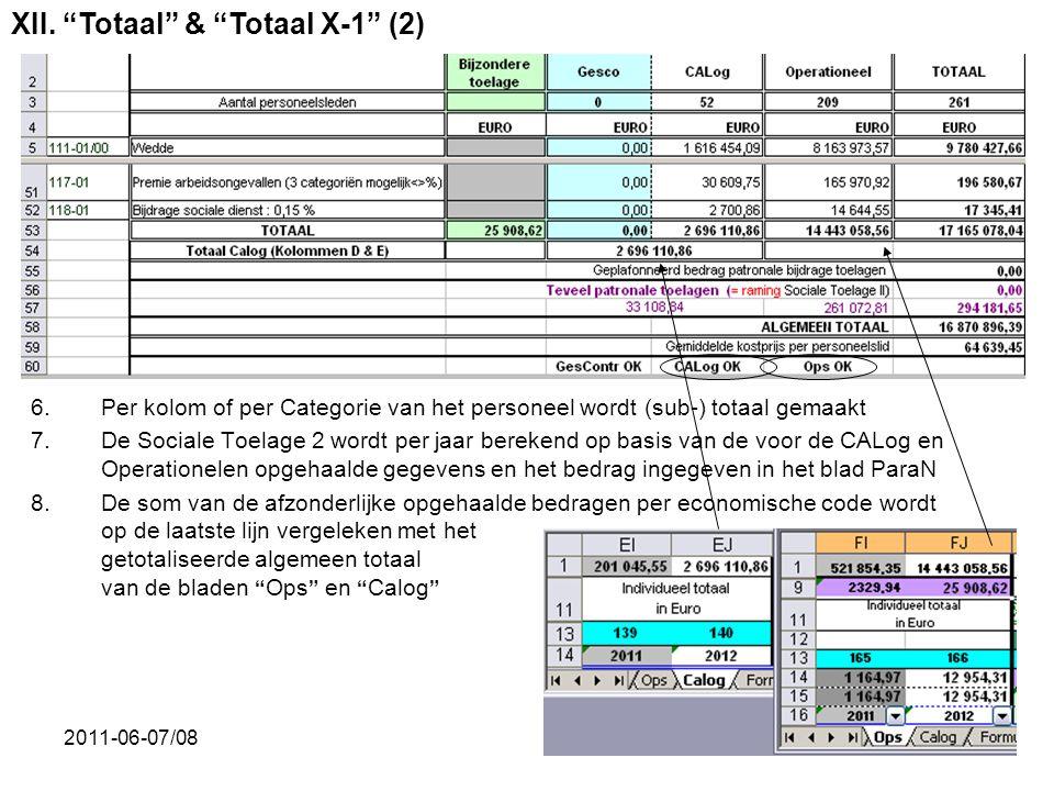 XII. Totaal & Totaal X-1 (2)
