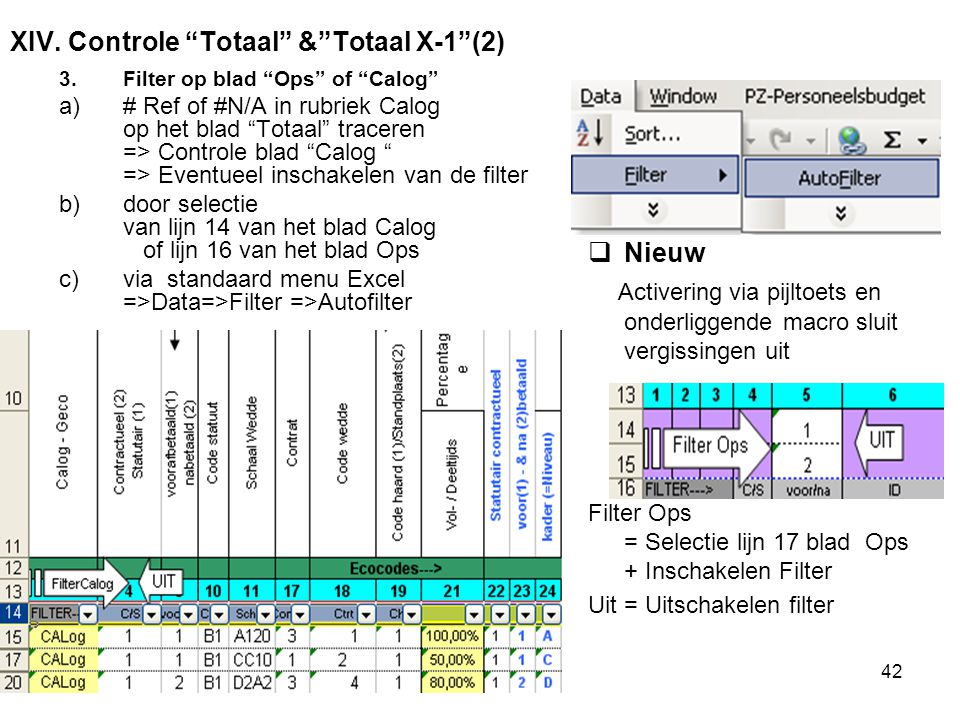 XIV. Controle Totaal & Totaal X-1 (2)