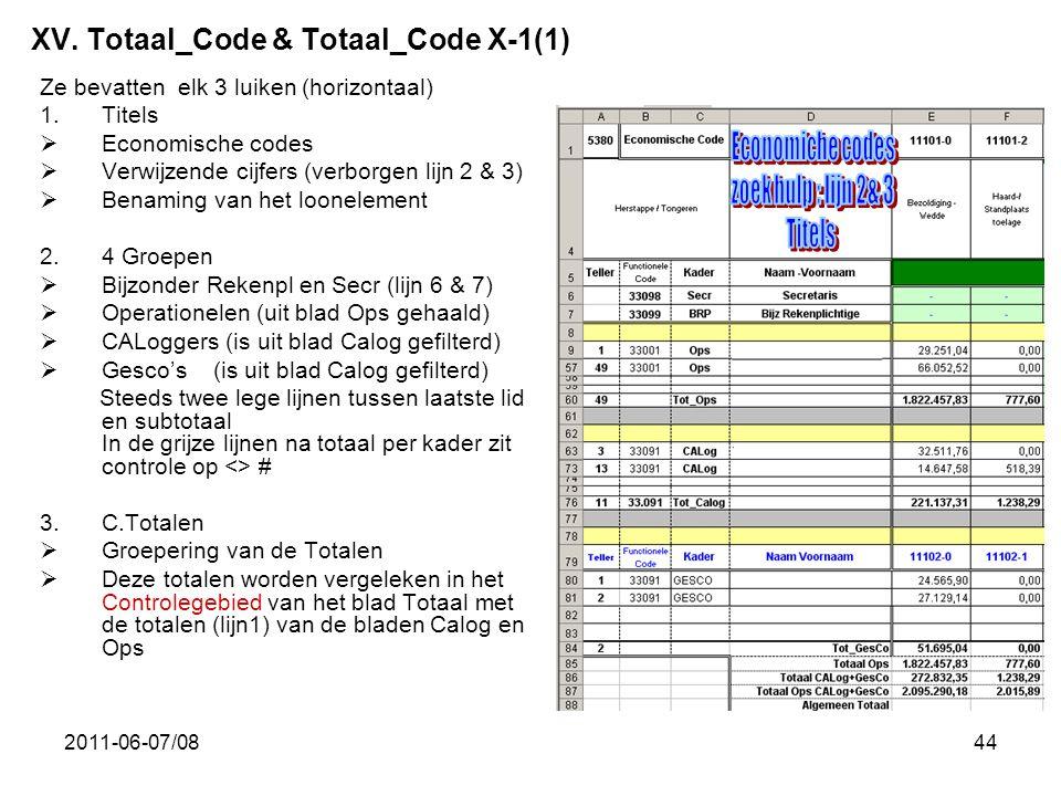 XV. Totaal_Code & Totaal_Code X-1(1)
