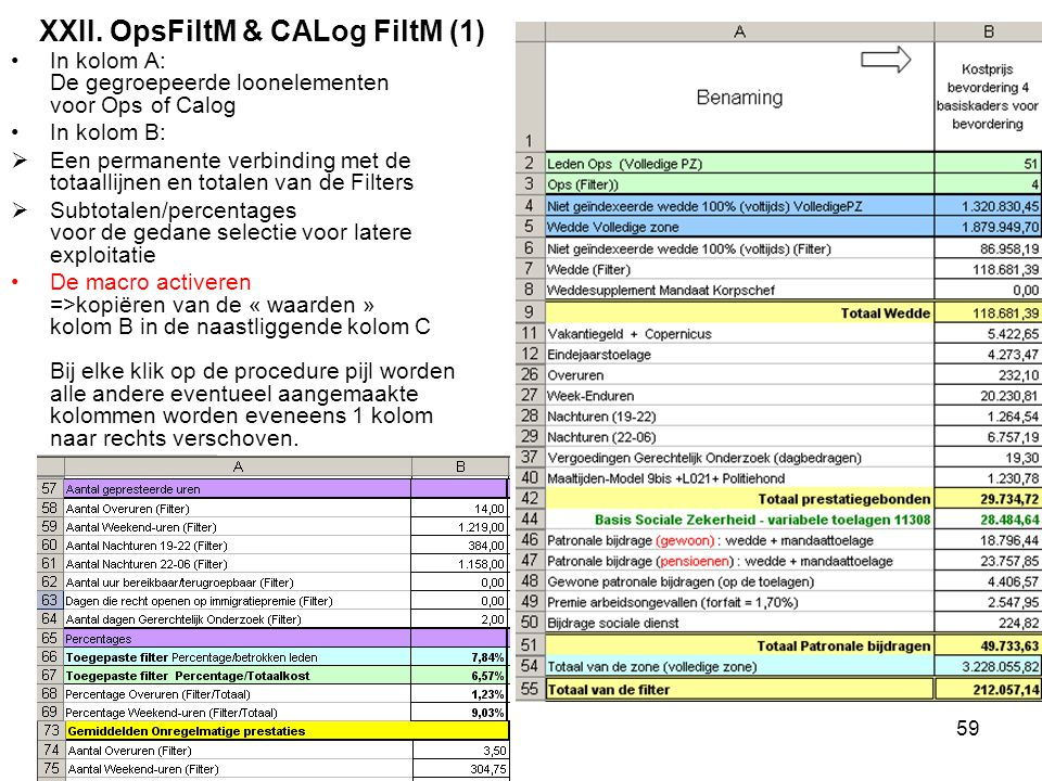 XXII. OpsFiltM & CALog FiltM (1)