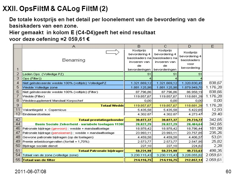XXII. OpsFiltM & CALog FiltM (2)