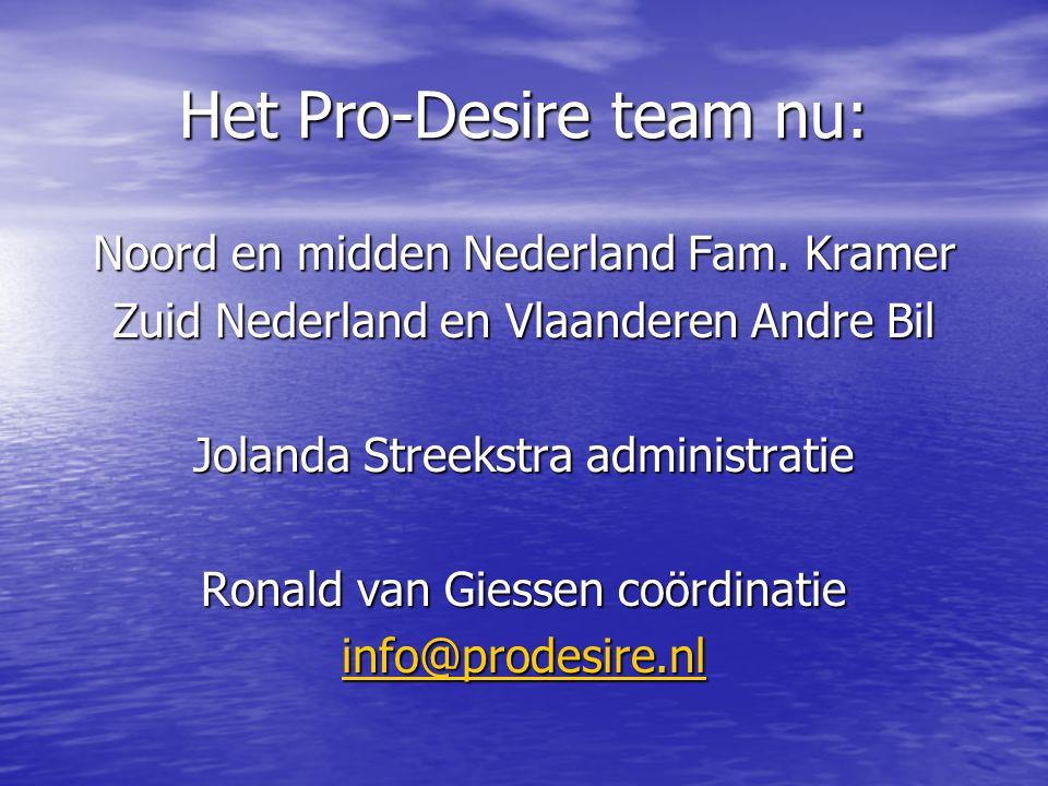 Het Pro-Desire team nu: