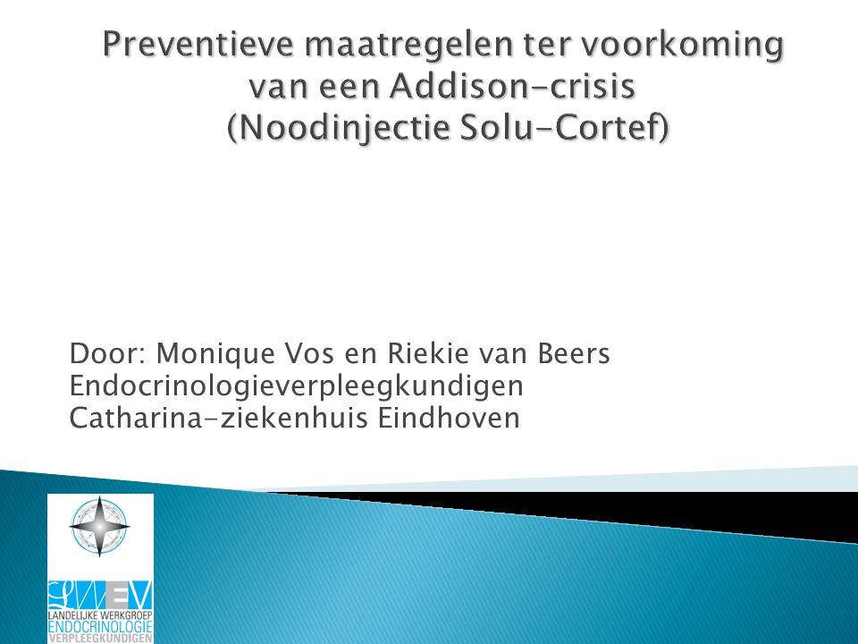 Preventieve maatregelen ter voorkoming van een Addison-crisis (Noodinjectie Solu-Cortef)