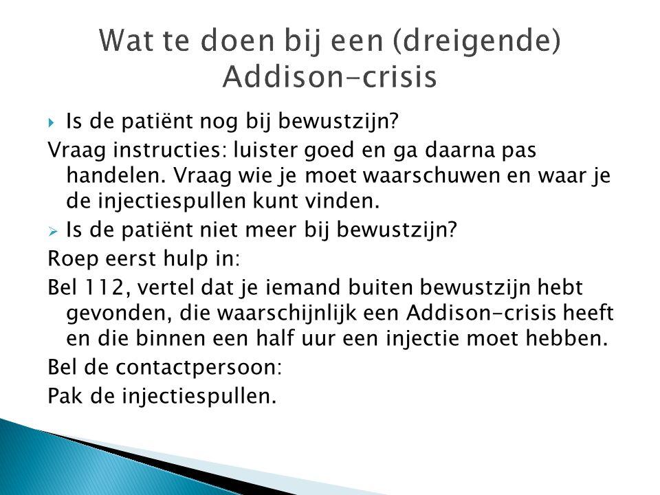 Wat te doen bij een (dreigende) Addison-crisis
