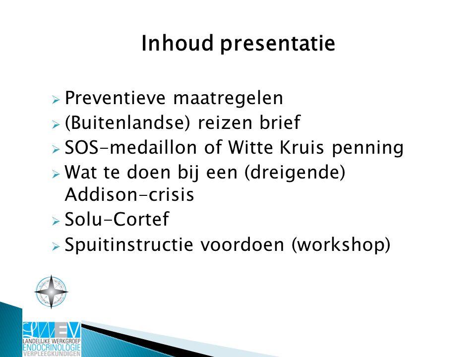 Inhoud presentatie Preventieve maatregelen (Buitenlandse) reizen brief