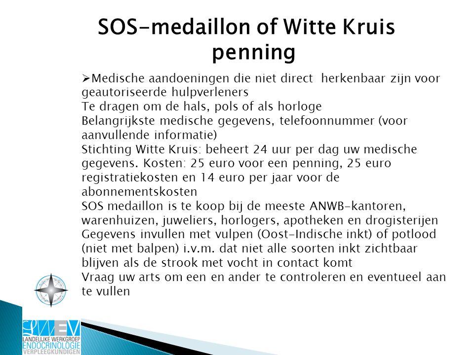 SOS-medaillon of Witte Kruis penning