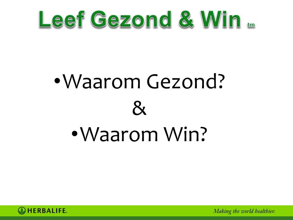 Leef Gezond & Win tm Waarom Gezond & Waarom Win