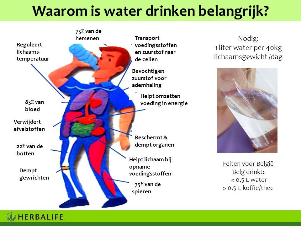 Waarom is water drinken belangrijk