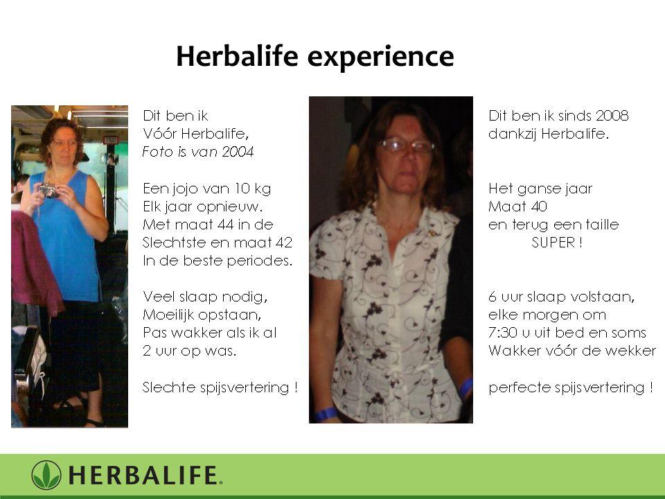 Herbalife experience Jouw verhaal….en dat komt allemaal door de intelligente voeding van herbalife.