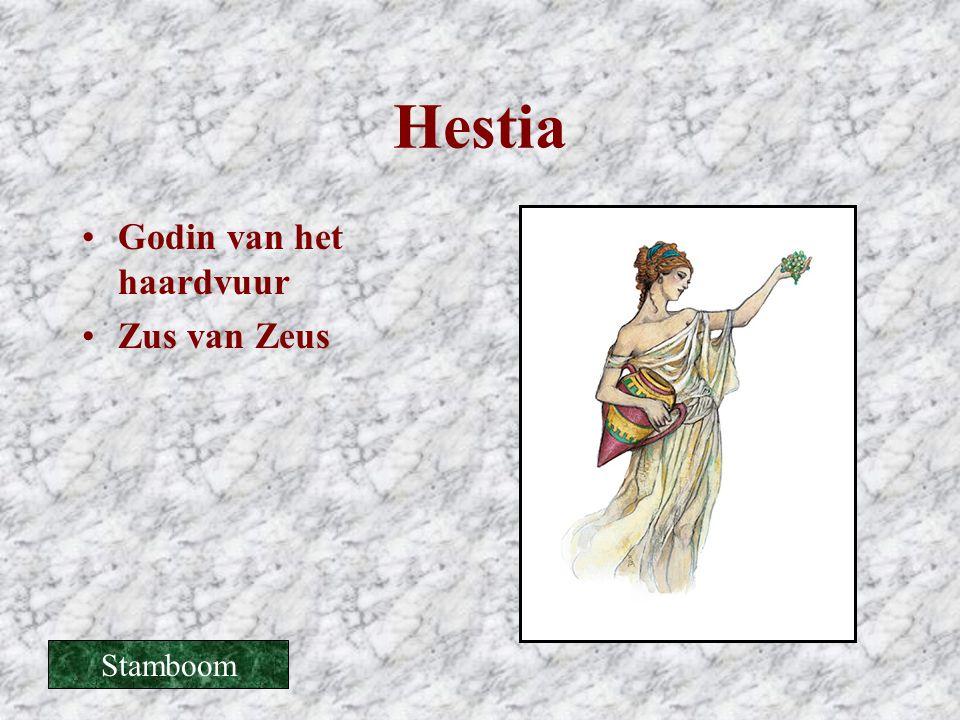 Hestia Godin van het haardvuur Zus van Zeus Stamboom
