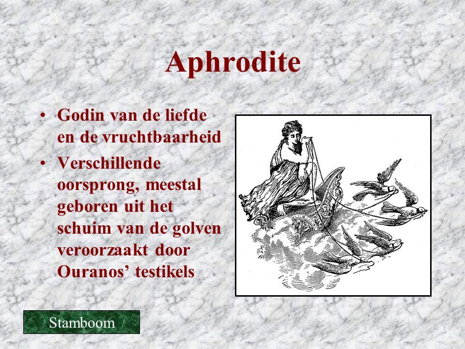 Aphrodite Godin van de liefde en de vruchtbaarheid