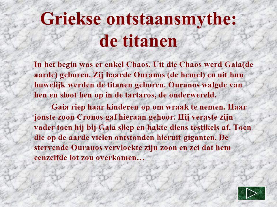 Griekse ontstaansmythe: de titanen