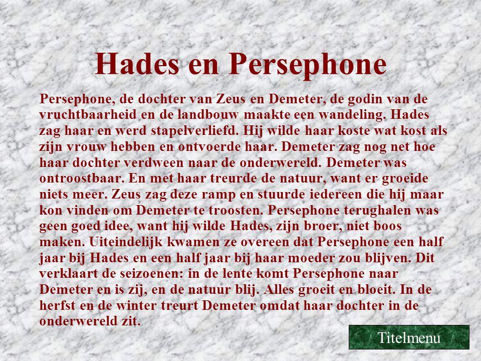 Hades en Persephone Titelmenu