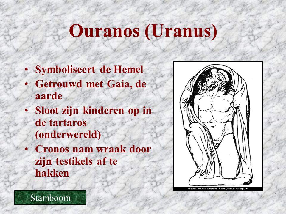 Ouranos (Uranus) Symboliseert de Hemel Getrouwd met Gaia, de aarde