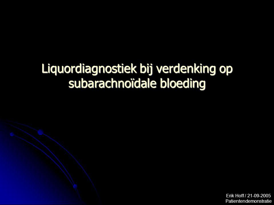 Liquordiagnostiek bij verdenking op subarachnoïdale bloeding