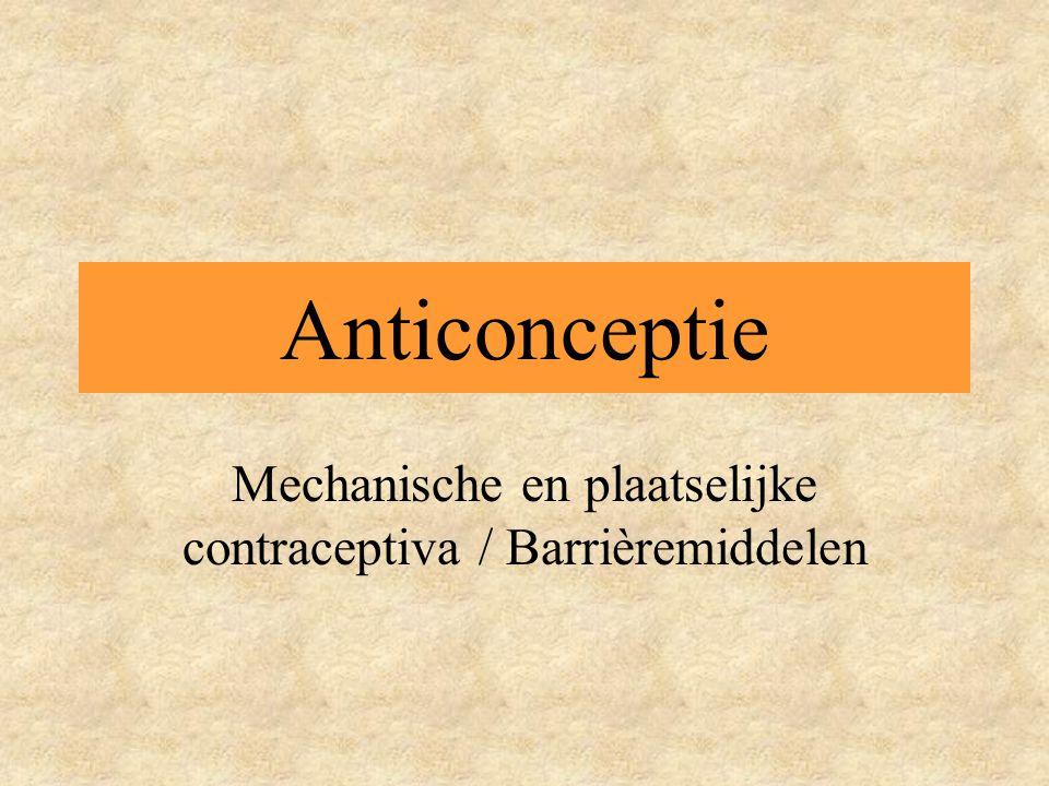 Mechanische en plaatselijke contraceptiva / Barrièremiddelen