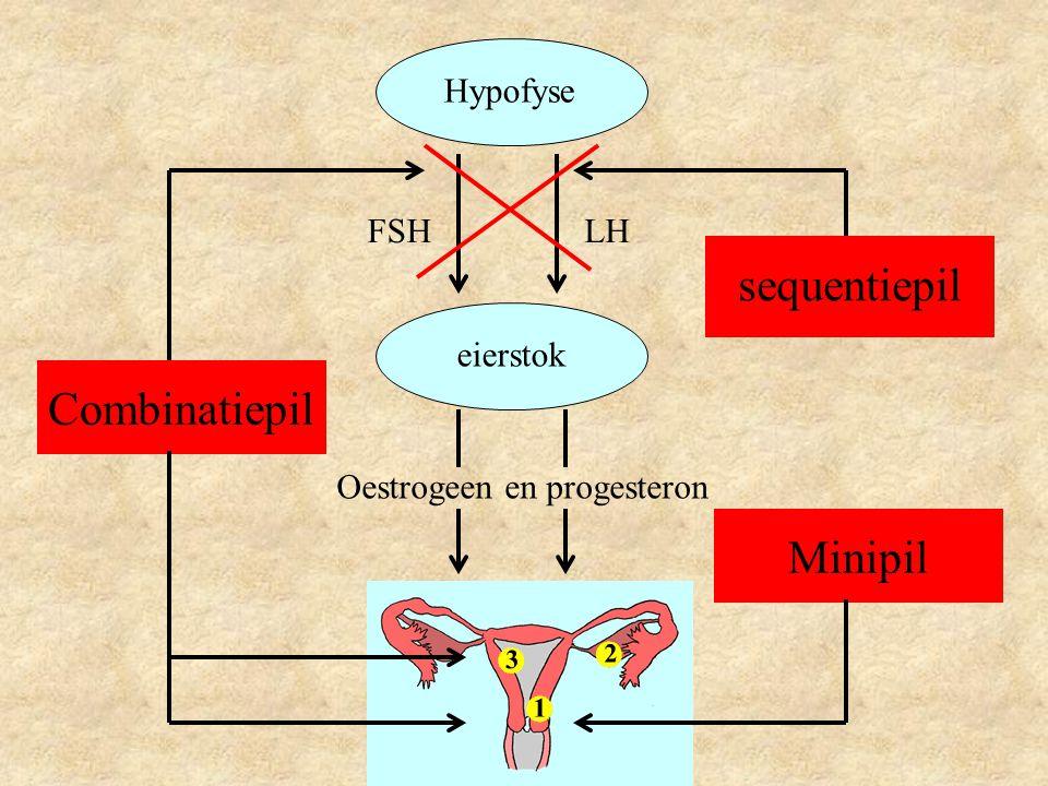 sequentiepil Combinatiepil Minipil Hypofyse FSH LH eierstok